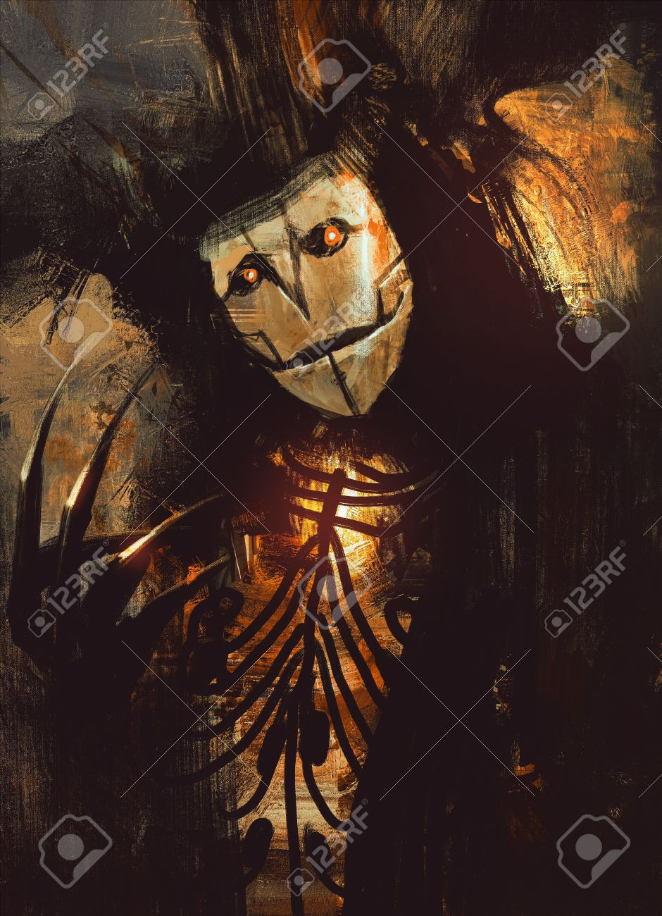 portrait of a dark fantasy character.digital painting Stock Photo - 42293105