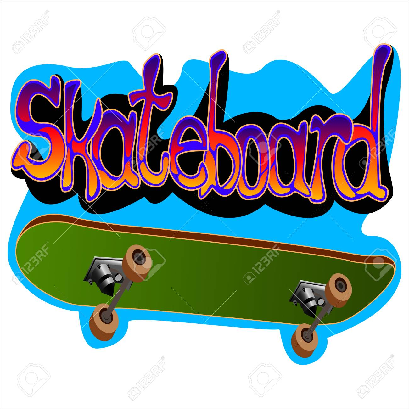 Graffiti from the skateboard and labels on white background vector graffiti from the skateboard and labels on white background vector illustration stock vector 74744304 thecheapjerseys Gallery