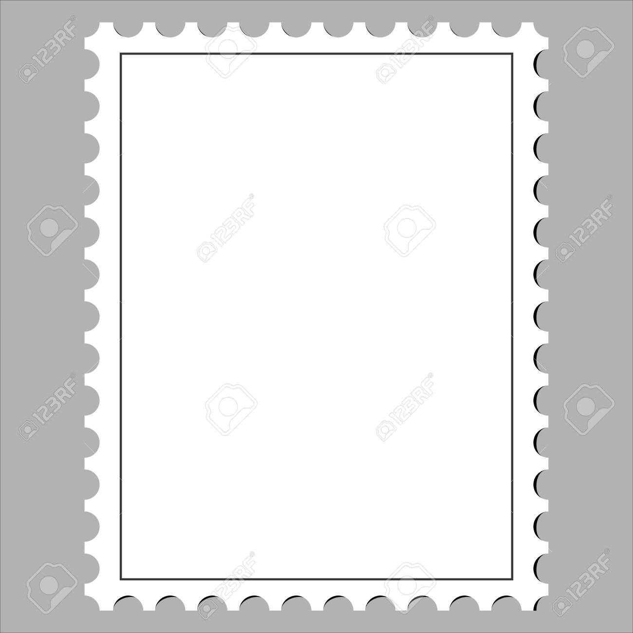Clean Postage Stamp, Template, Icon On White Background Vector Illustration  Stock Vector   74712467