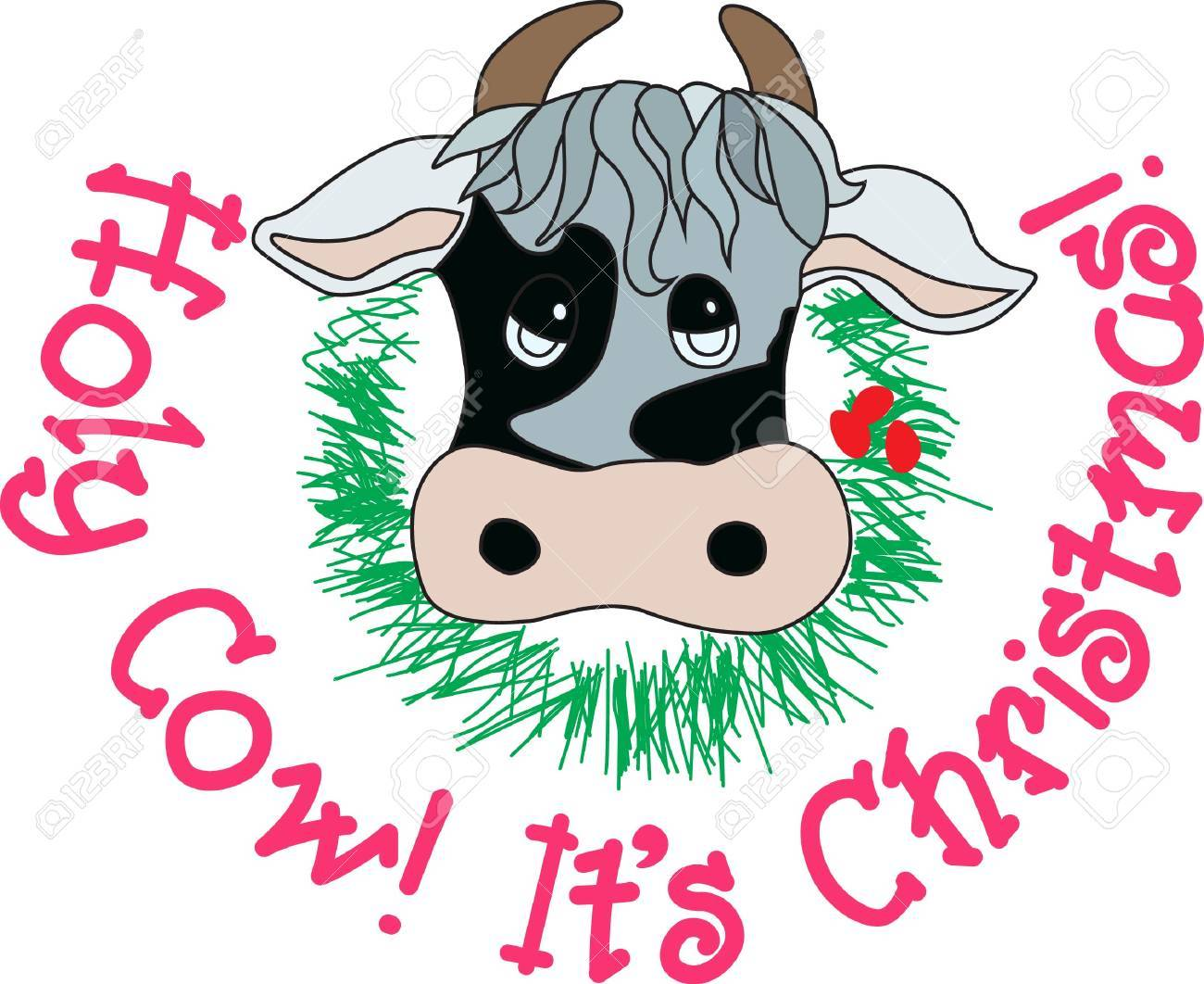 Christmas Cow.Add Some Country Charm To The Holidays With This Very Unique