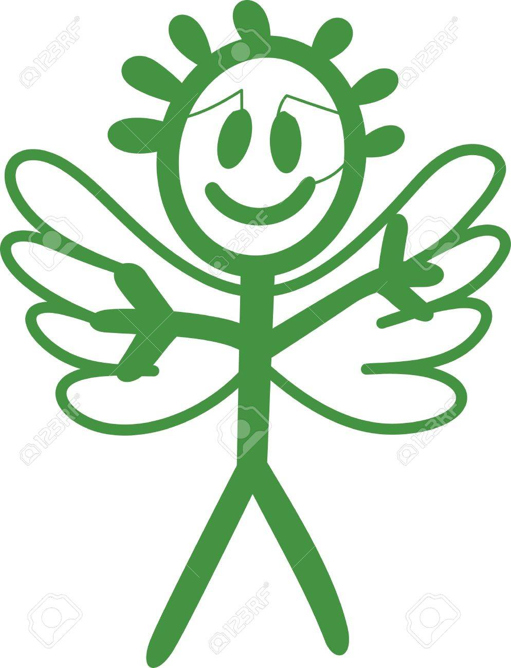 Heaven has sent a special angel!  This super cute stick figure angel is the perfect decoration for nurseries and baby gear.  Use with your vinyl software to quickly create SVG files! Stock Vector - 51211435