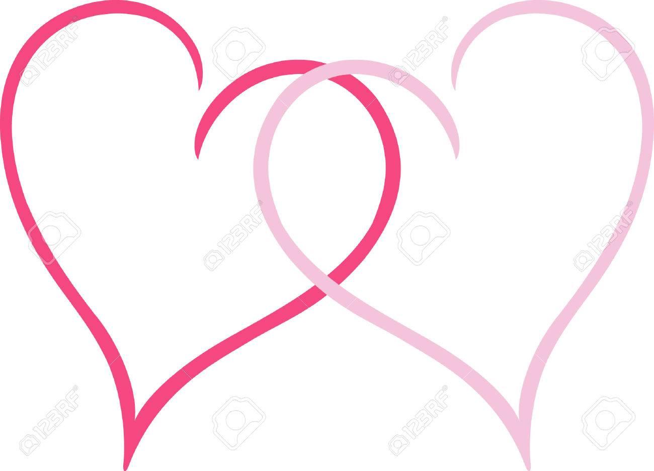 Wahre Liebe Ist In Ineinander Herzen Gezeigt Eine Grosse Valentine