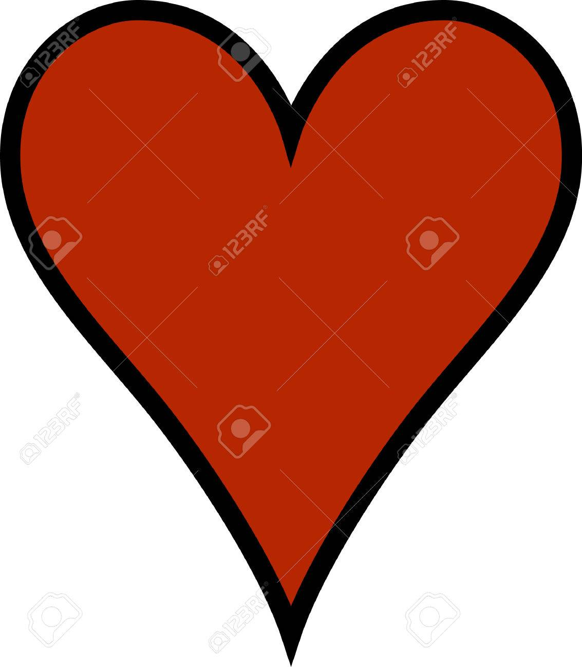 A simple heart says so much.  Add your own text for a personal message!  Perfect for SVG cuts or printing your own Valentines. Stock Vector - 51222551
