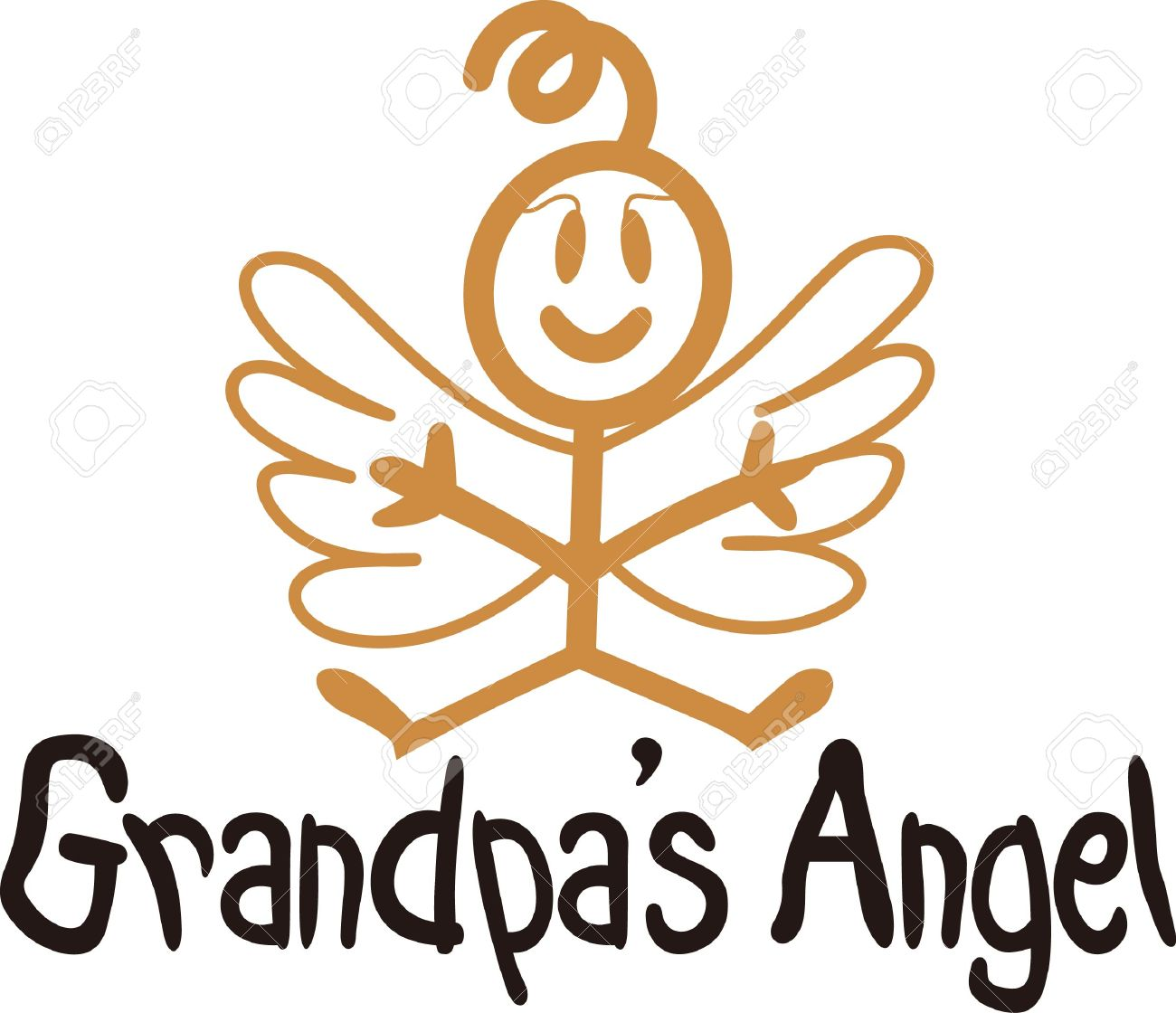 Heaven has sent a special angel!  This super cute stick figure angel is the perfect decoration for nurseries and baby gear.  Use with your vinyl software to quickly create SVG files! Stock Vector - 51224629