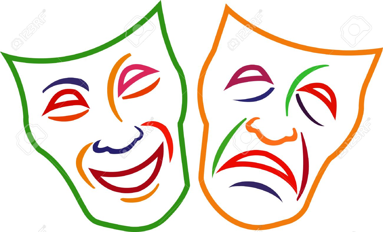 add these comedy tragedy masks to your projects and design some rh 123rf com Comedy and Tragedy Masks comedy tragedy masks vector free