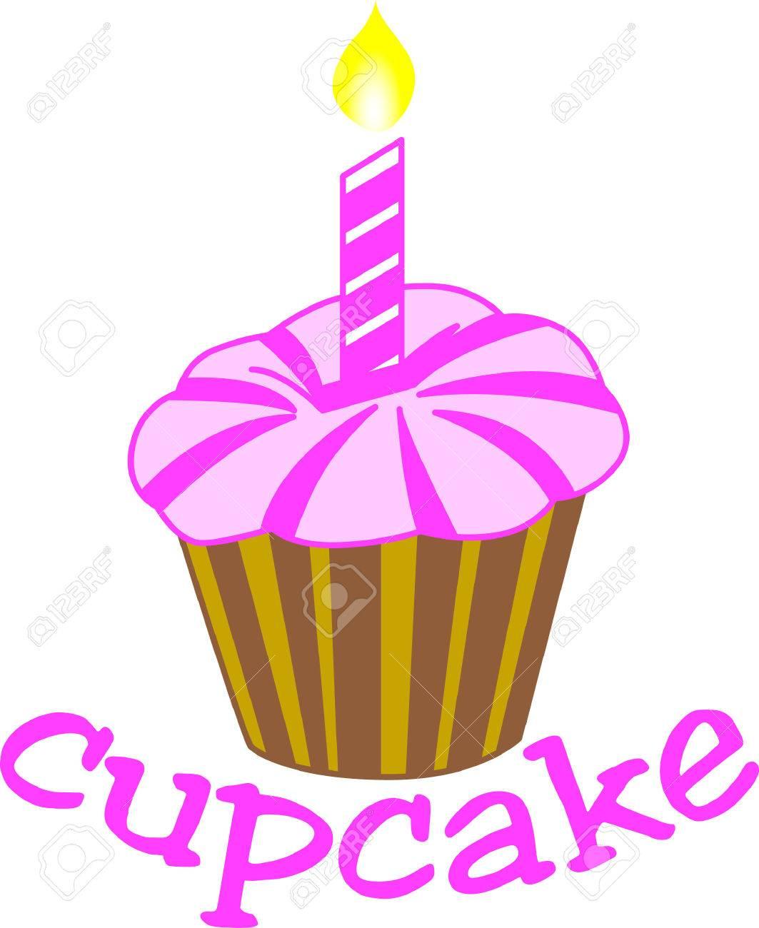 Een Eenvoudige Cupcake Draagt Grote Wensen Voor Een Gelukkige Verjaardag Maak Iets Fantastisch Voor Een Speciale Verjaardag Meisje