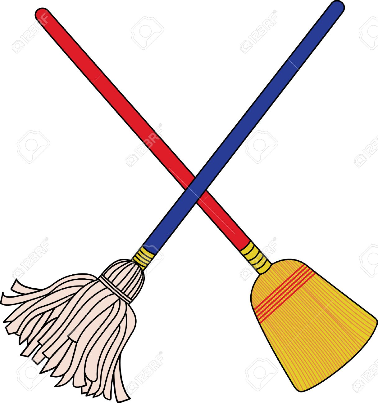 The Crossed Mop And Broom Theres No Better Graphic For A House