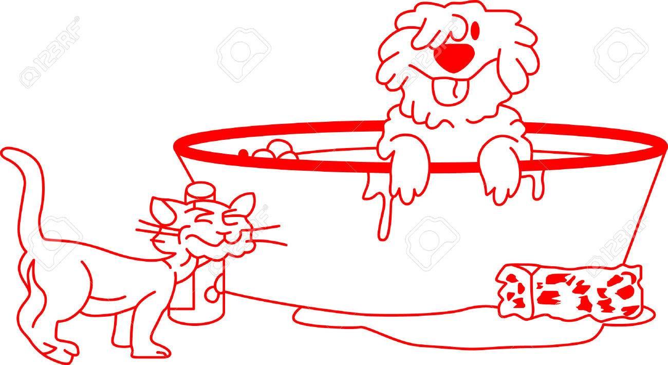 Es La Hora Del Baño Para Los Miembros De La Familia Peluche Este Diseño Redwork Diversión Es Perfecto Para Una Toalla De Baño Sólo Para Los