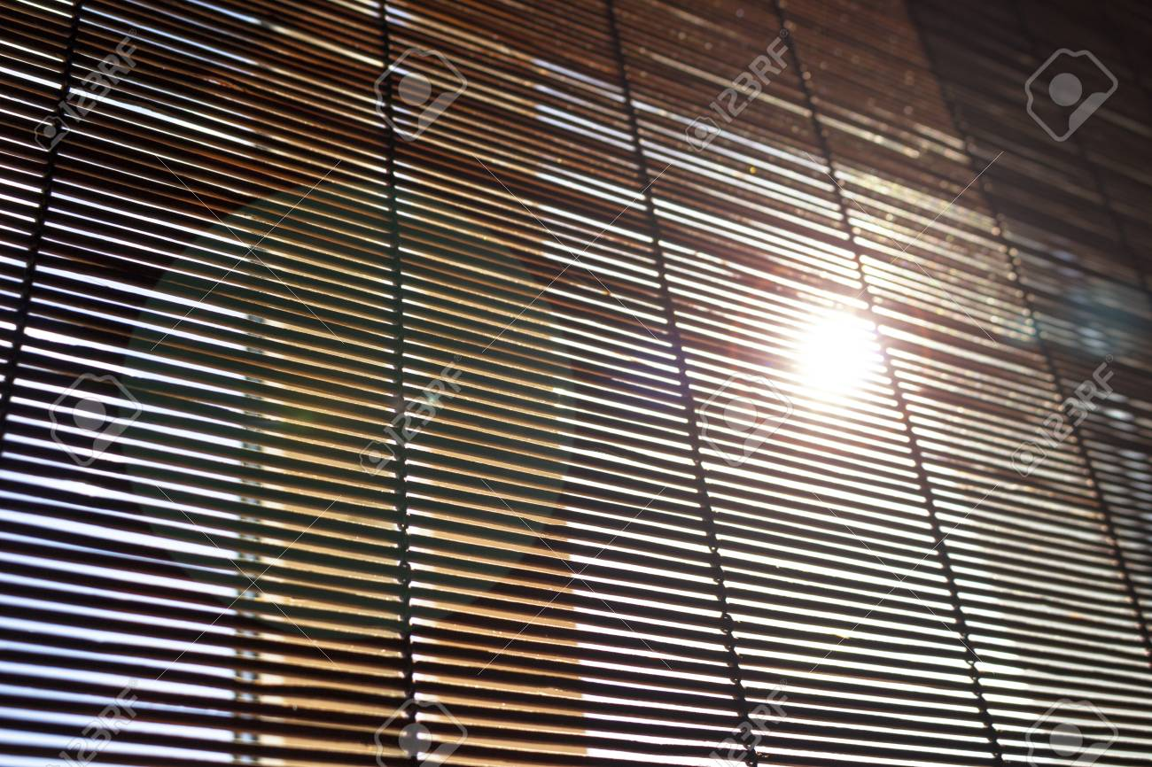 Rays Of The Sun Through The Blinds Background Stock Photo Picture And Royalty Free Image Image 107677430