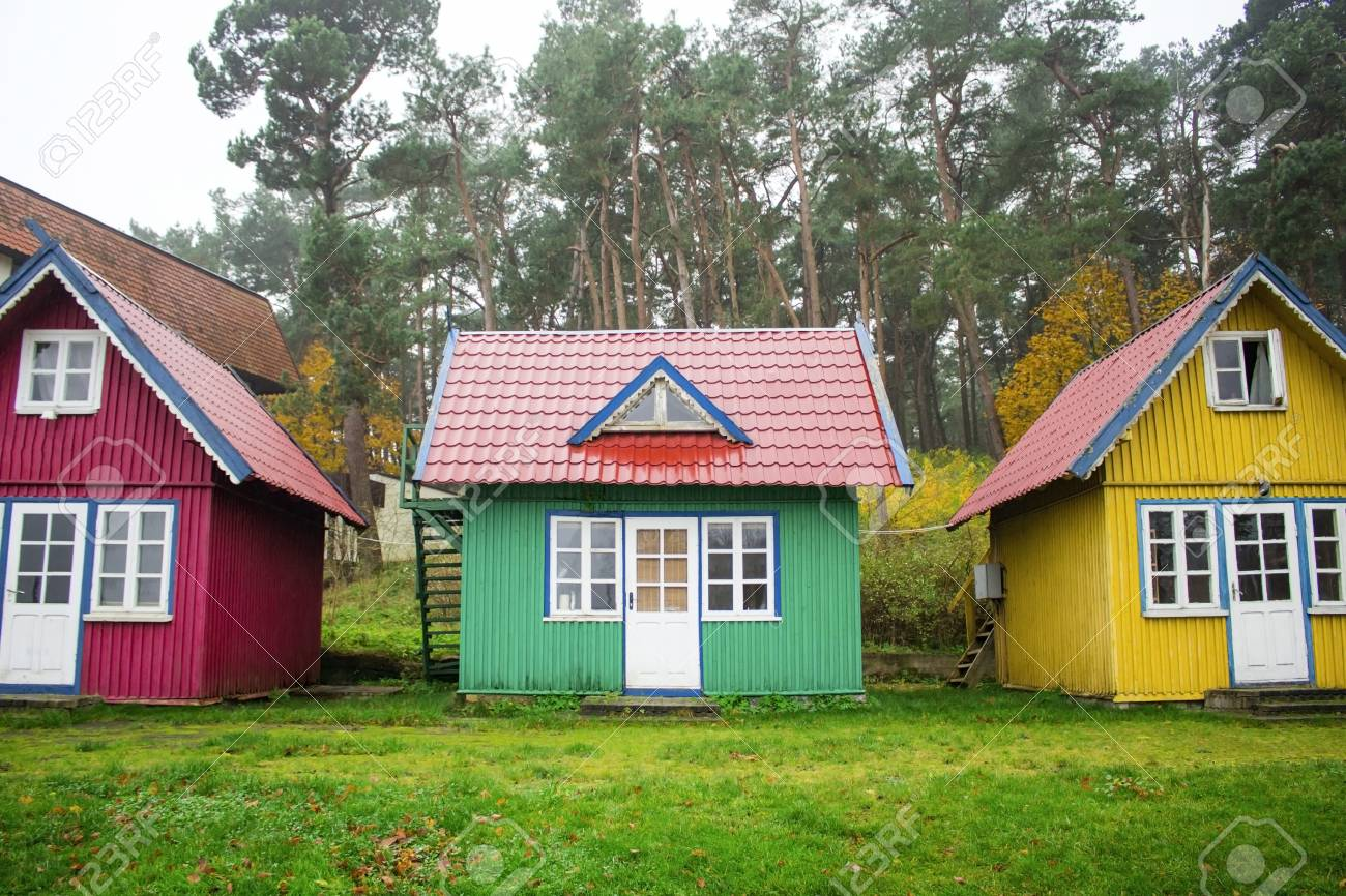 Small Wooden House In A Beautiful Village Stock Photo Picture And Royalty Free Image Image 108100473