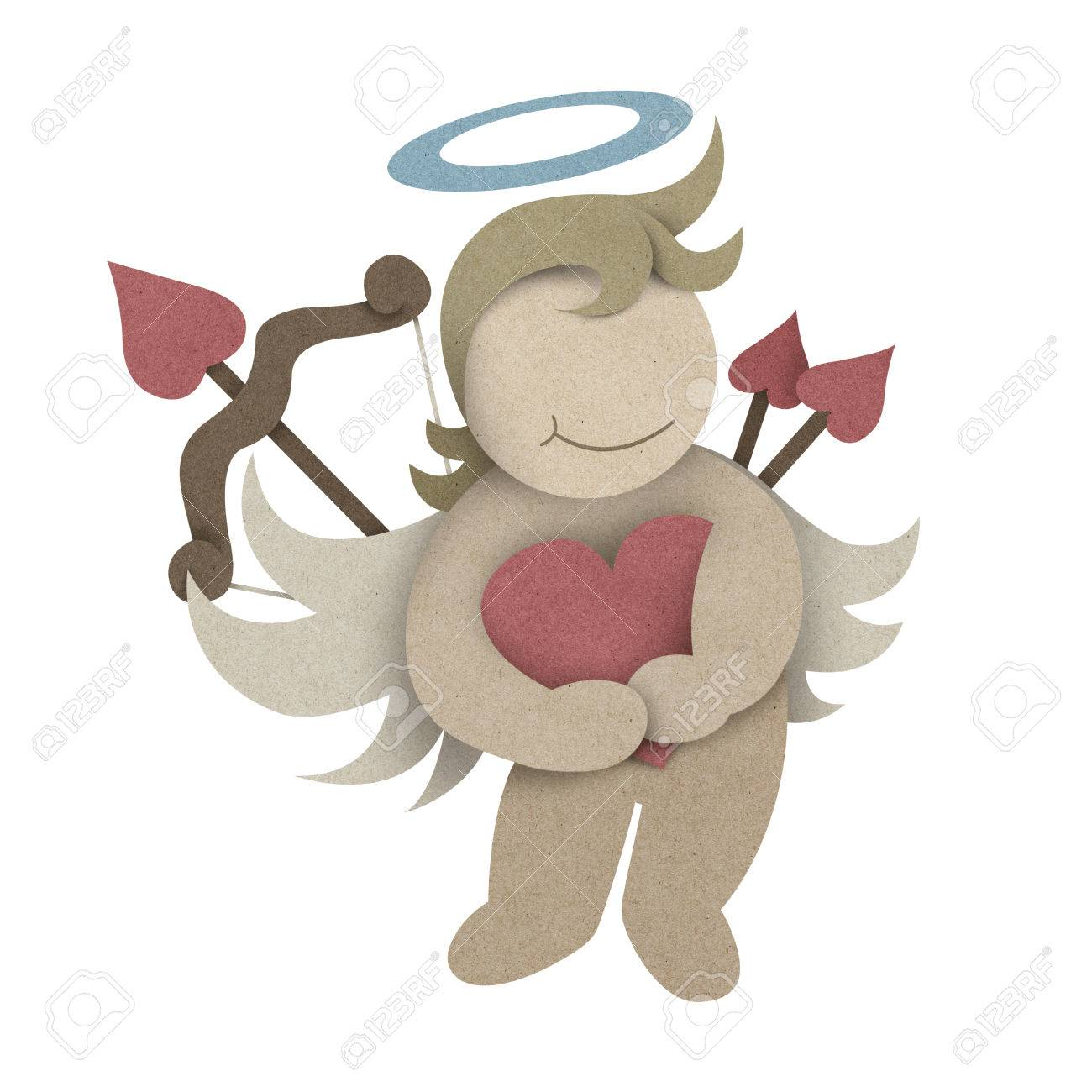 Cupid hug love heart made by recycled paper craft stock photo cupid hug love heart made by recycled paper craft stock photo 35604178 jeuxipadfo Images