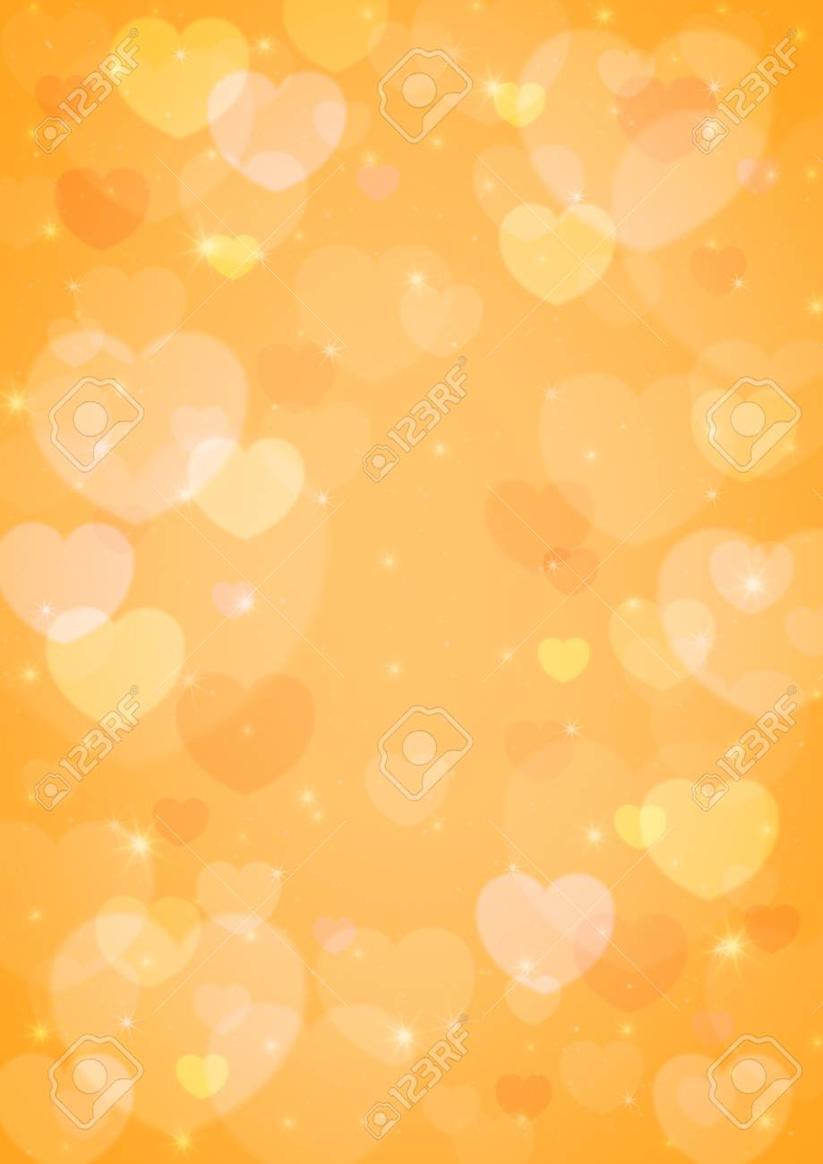 Light Heart Bokeh For Love Background Orange Tone Stock Photo Picture And Royalty Free Image Image 35849633