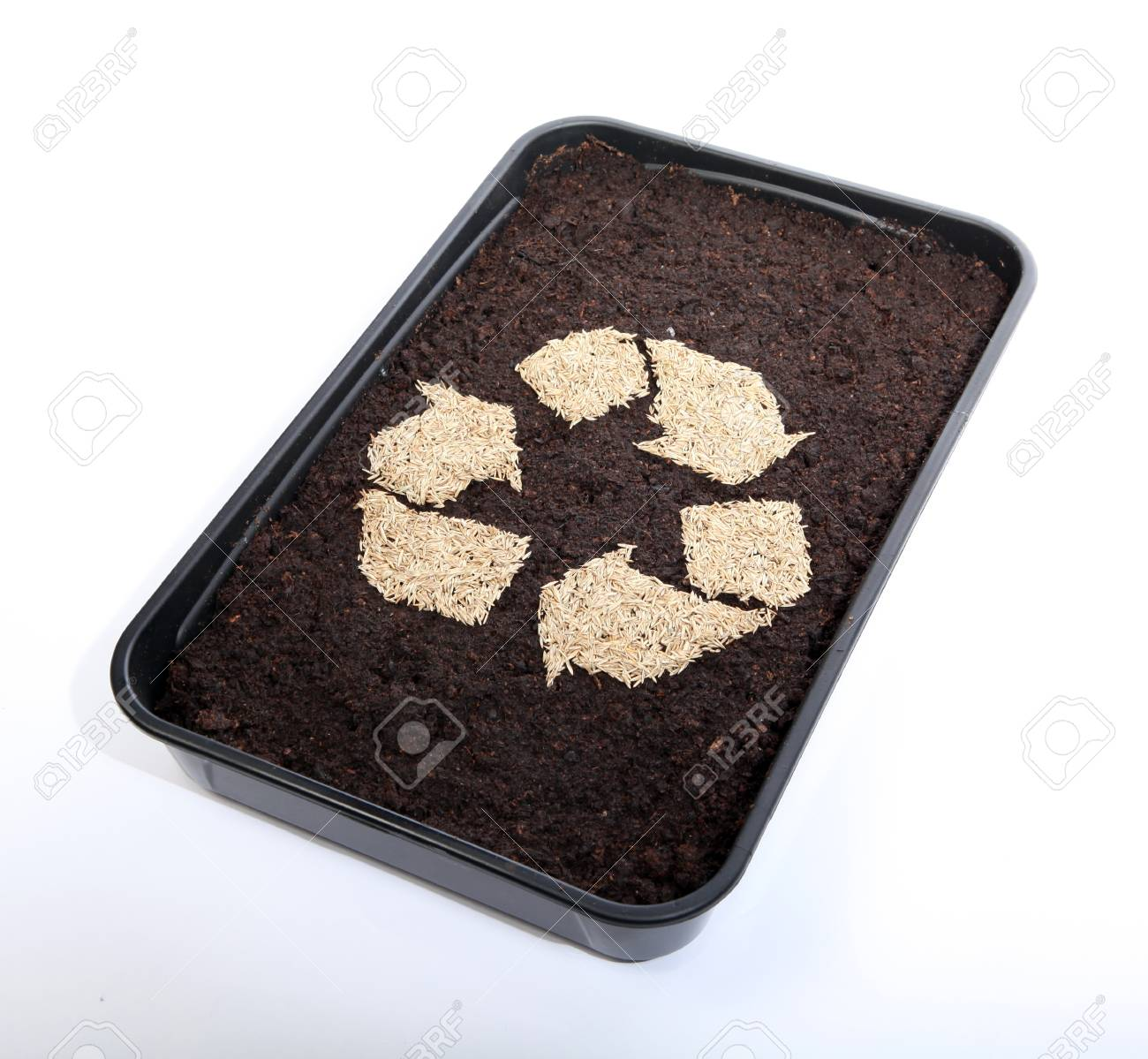 Recycle soil and grass seed Stock Photo - 9423169