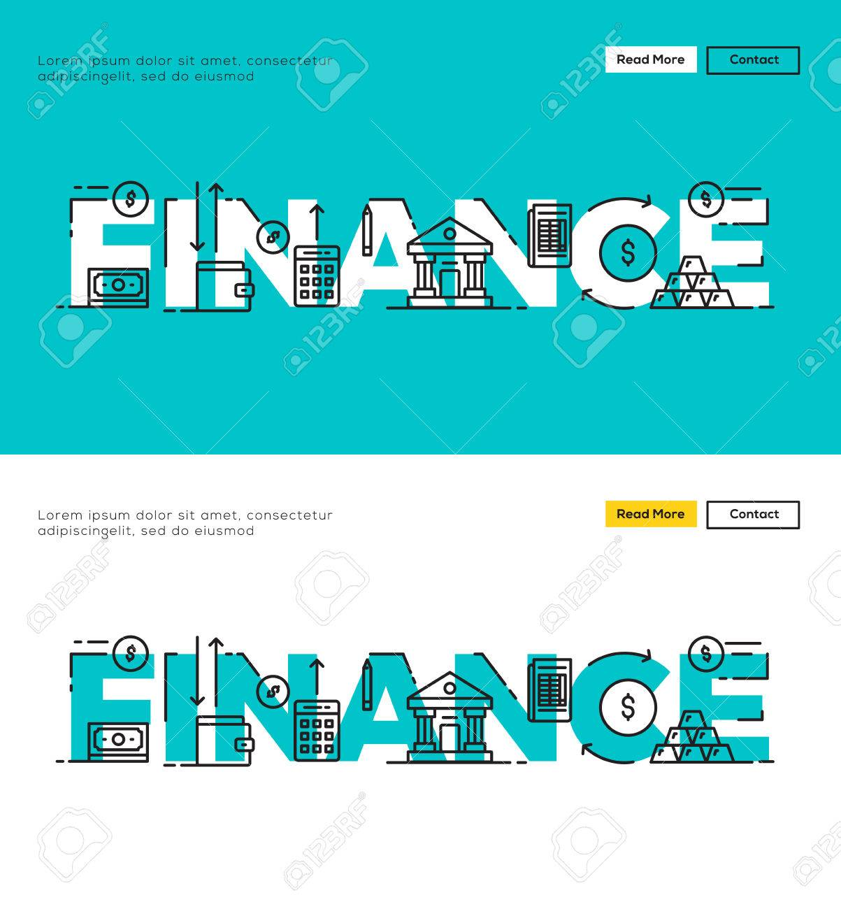 modern flat line design concept of finance and financial modern flat line design concept of finance and financial management flat line design for website