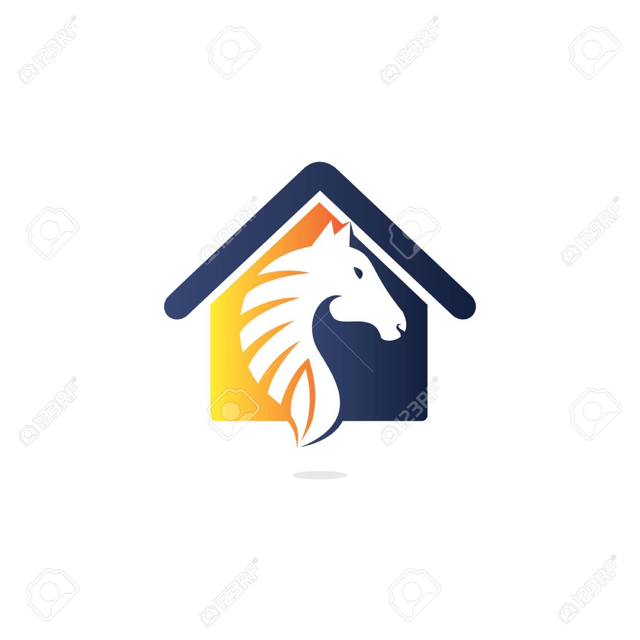 Horse And House Logo Design Template Creative Horse And House Royalty Free Cliparts Vectors And Stock Illustration Image 142847674