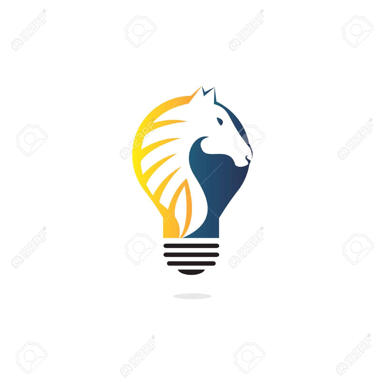 Light Bulb And Horse Logo Design Wild Ideas Logo Concept Royalty Free Cliparts Vectors And Stock Illustration Image 142847681