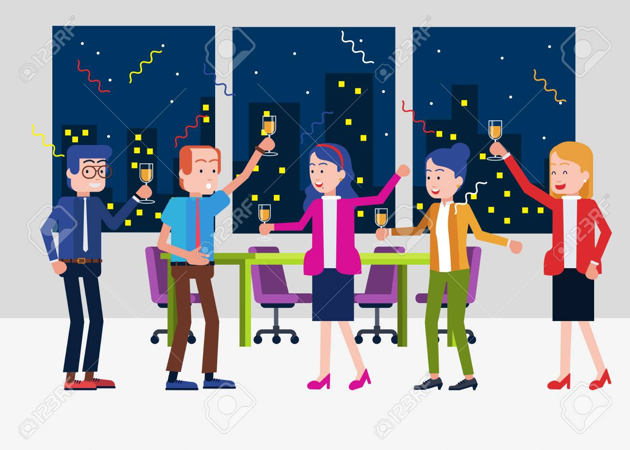 Office Party Time - 121759289