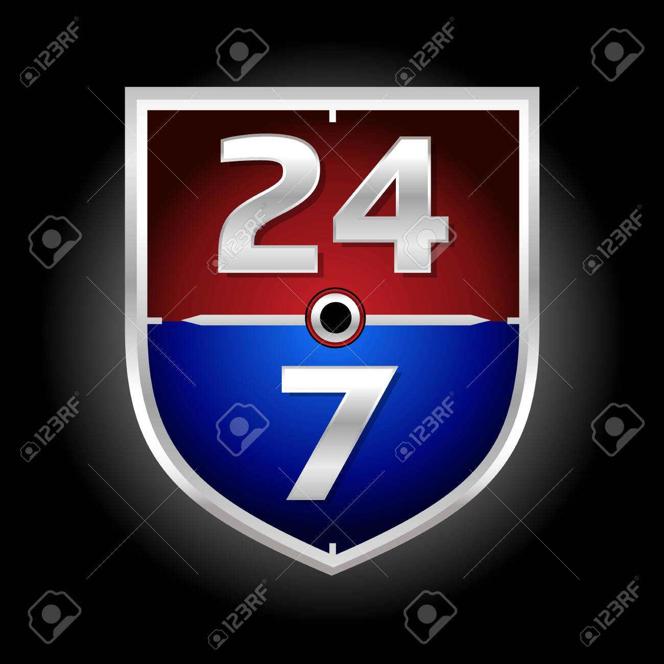24/7 Time Symbol - 121759297