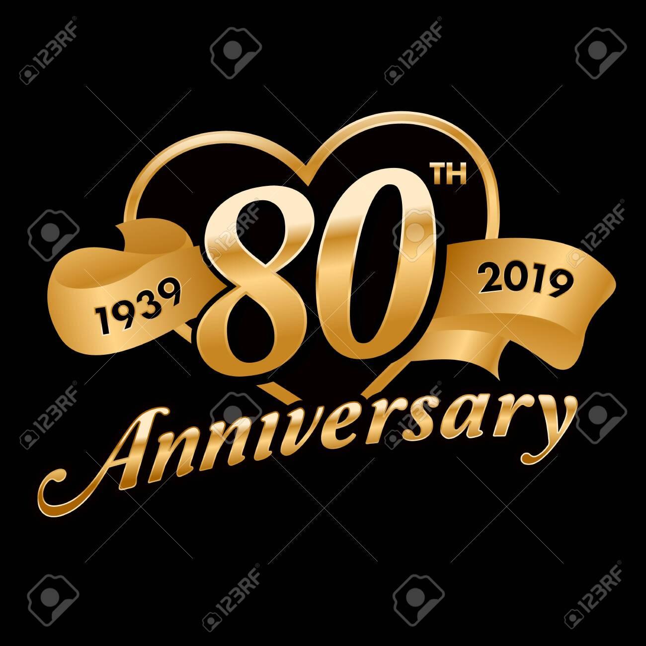 80th Anniversary Symbol - 121759381