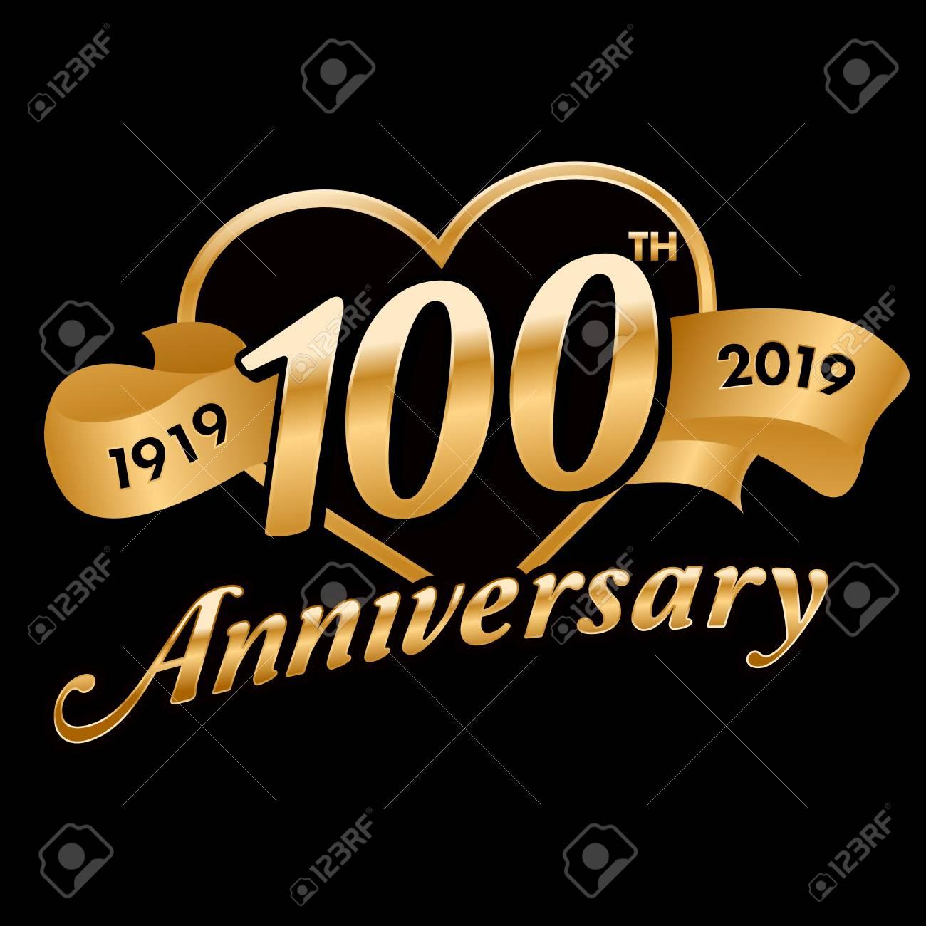 100th Anniversary Symbol - 121759387