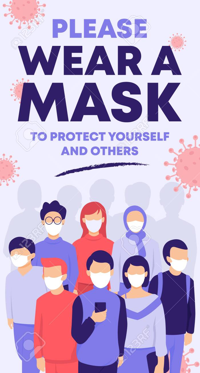 People wearing face mask in public to protect from coronavirus disease - 152672338