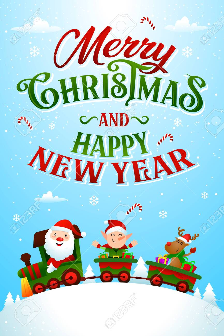 christmas greeting card template vector/illustration - 154042340