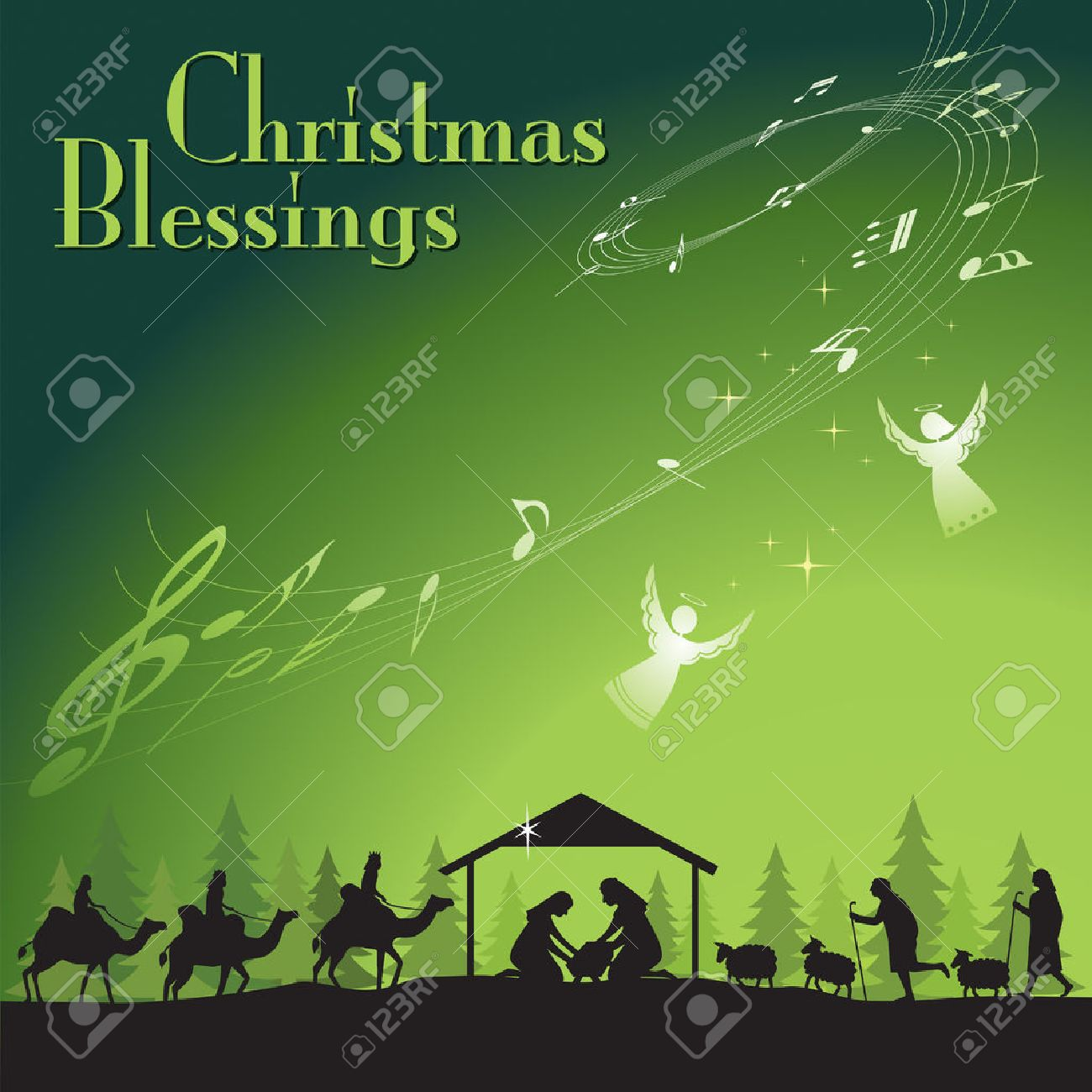 christmas blessing vector illustration the traditional christian