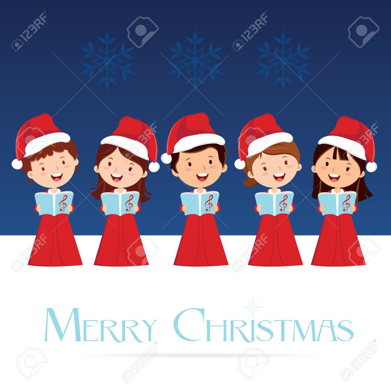 Christmas Choir. Christmas Carols. Royalty Free Cliparts, Vectors ...