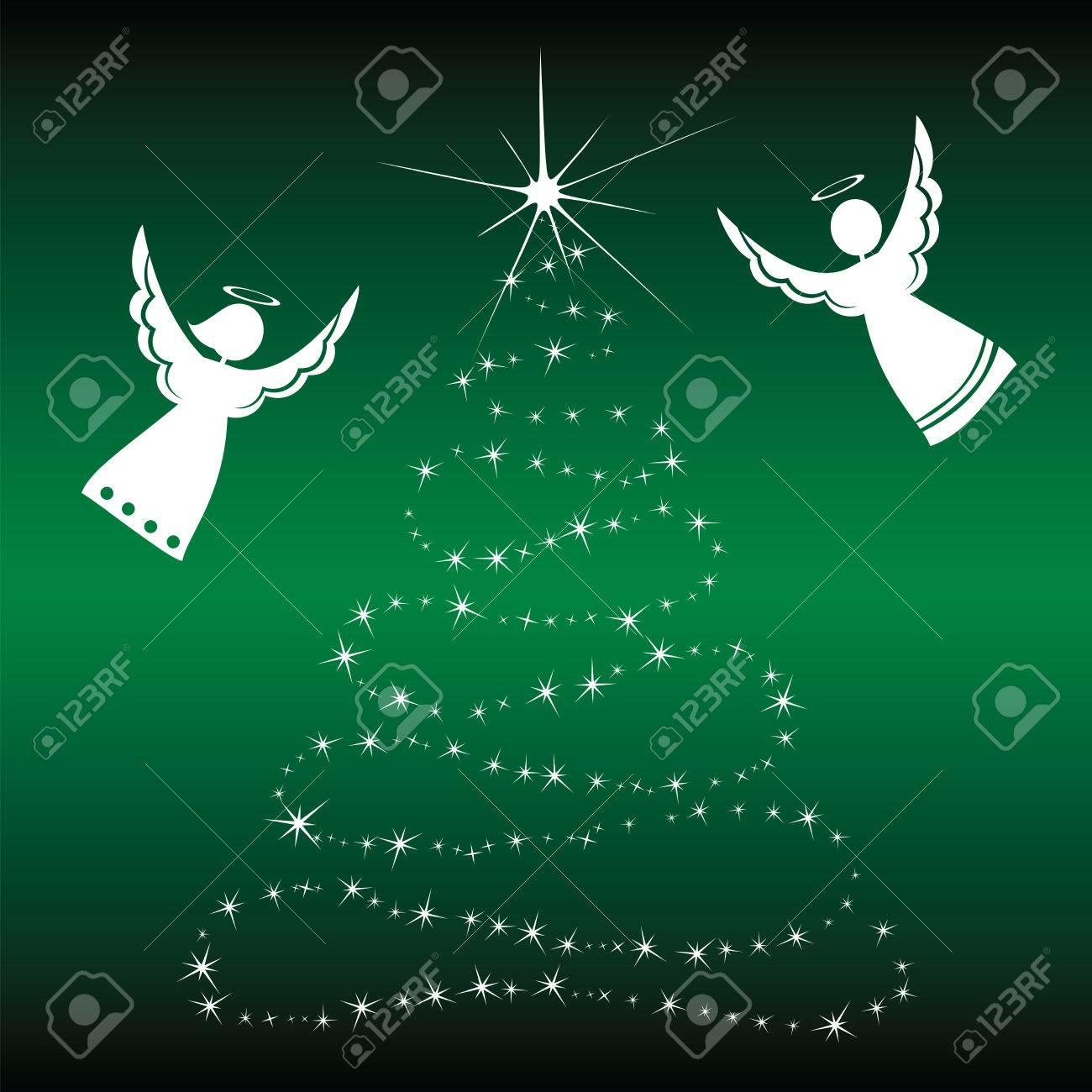 Christmas Angels.Christmas Angels Christmas Angels With Christmas Tree Graphics