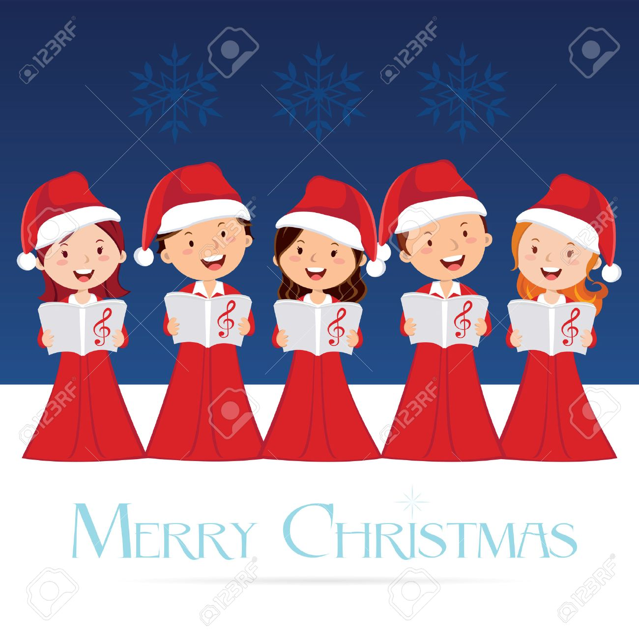 Choir. Christmas Concert. Christmas Carols. Royalty Free Cliparts ...