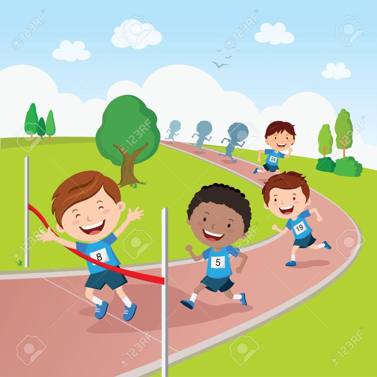 Running competition. Marathon running competition. - 68368513