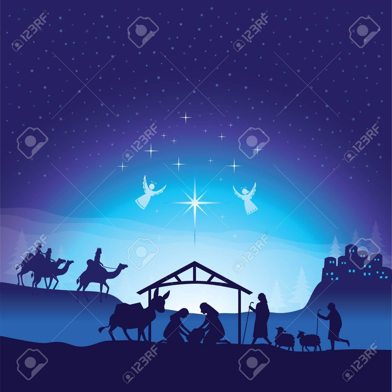 Christmas nativity scene. - 88177418