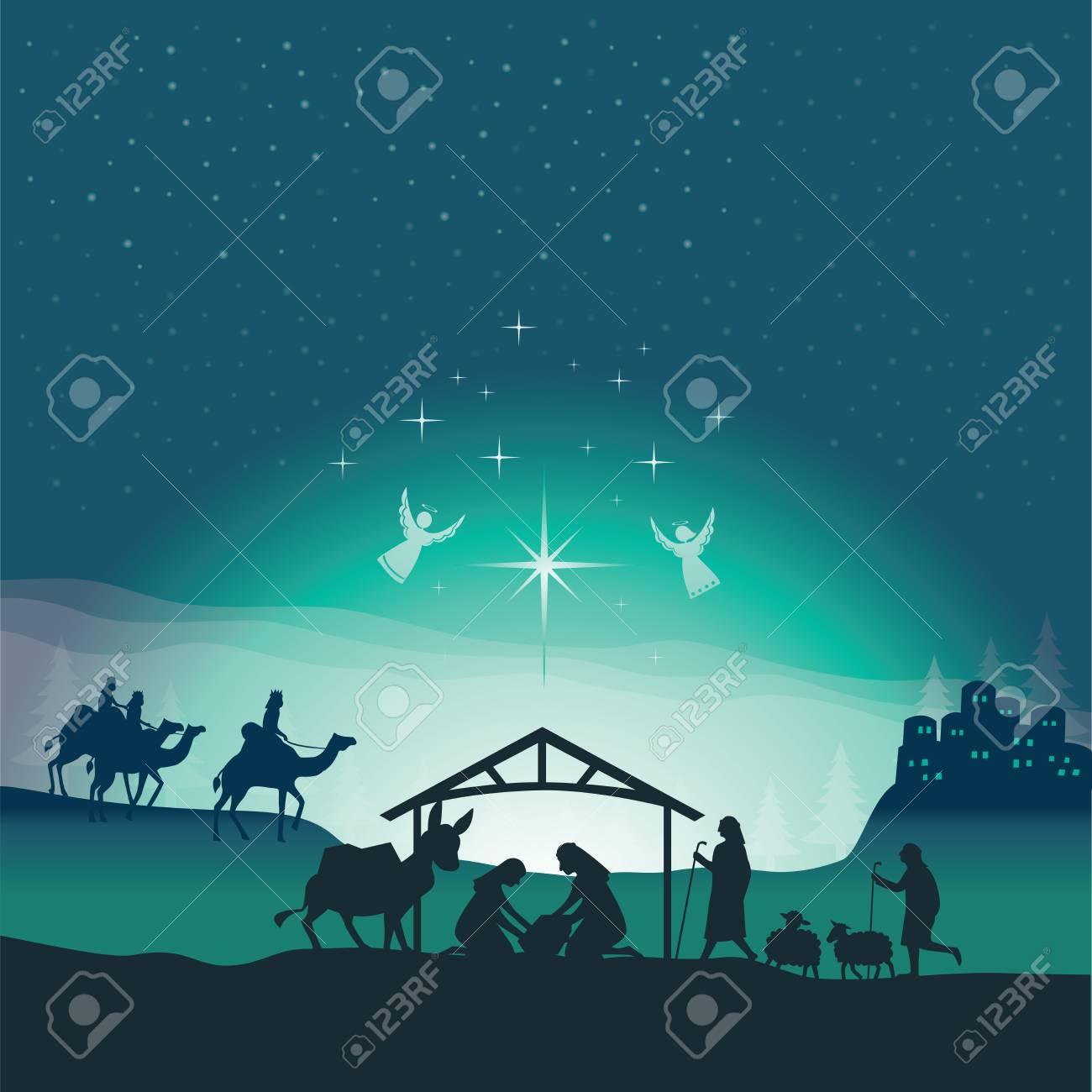 Nativita Natale Immagini.Scena Di Nativita Di Natale