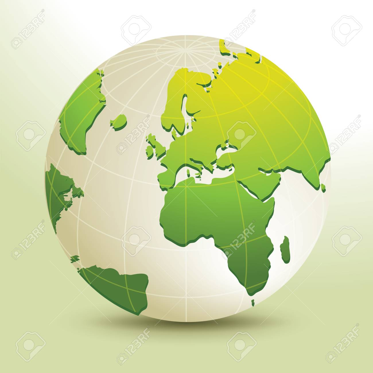Global, Vector illustration of Global map in Africa, Middle East..