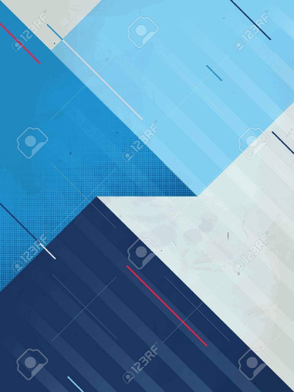 Vector Abstract Background. Grunge texture. Triangle geometric pattern - 58222522