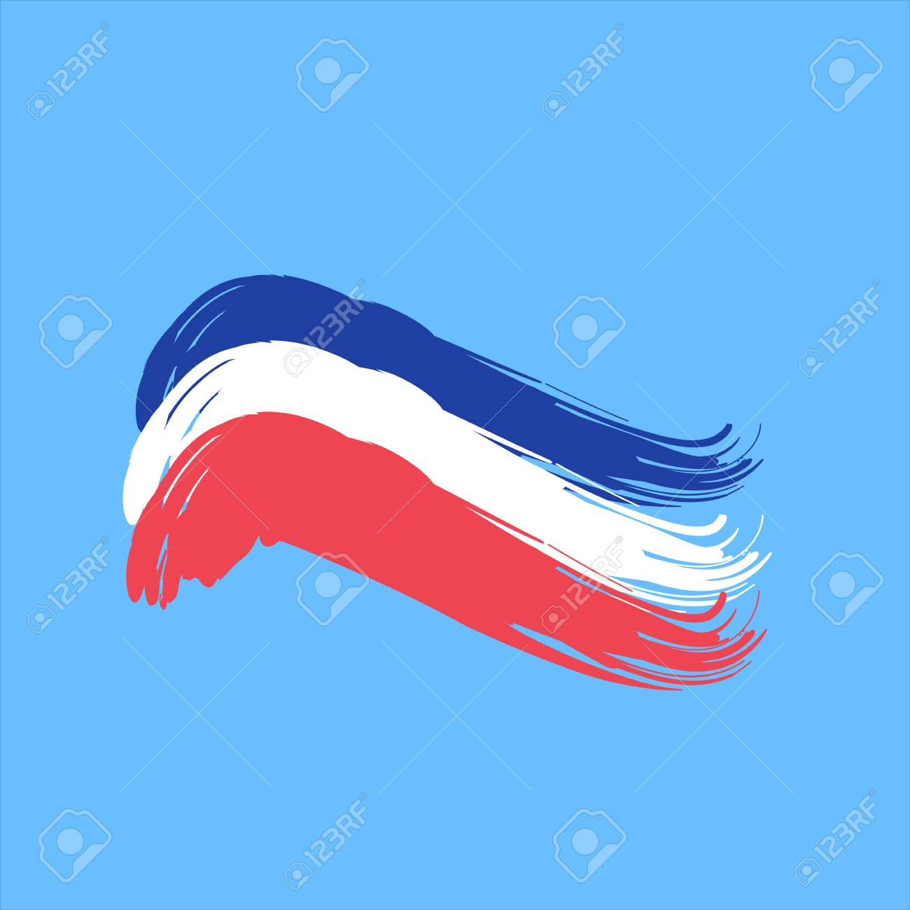 brushstroke flag france (french). royalty free cliparts, vectors