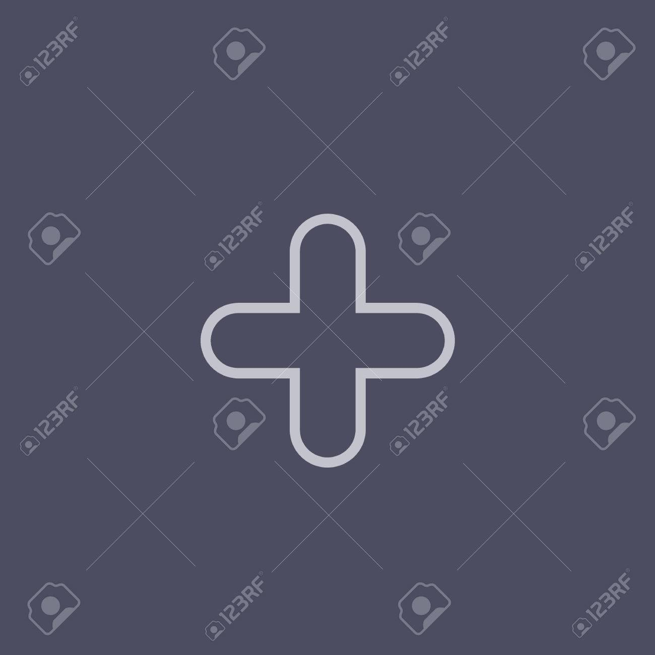 Plus Sign Icon Positive Symbol Zoom In Classic Flat Icon