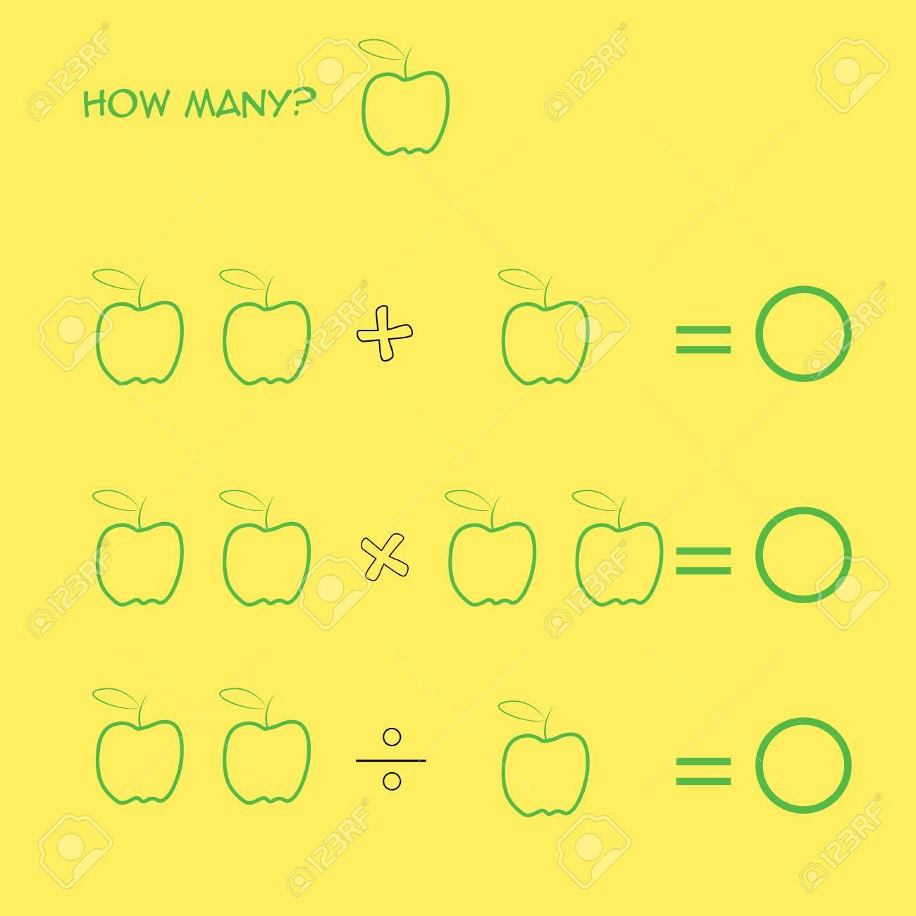 Juego Educativo De Matemáticas Para Niños. Aprendiendo Contando ...