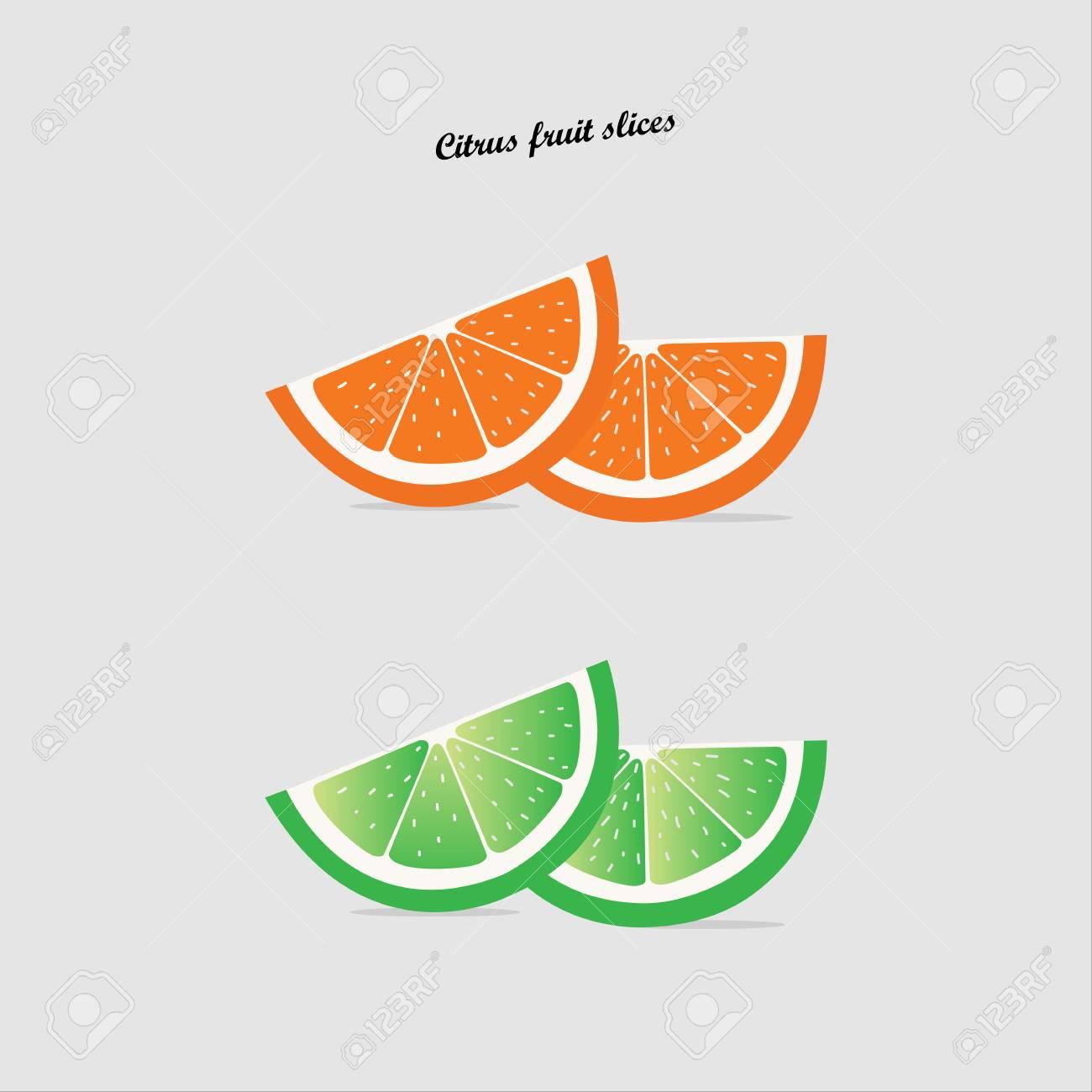 Slice of fresh orange isolated on white background fruit  Orange
