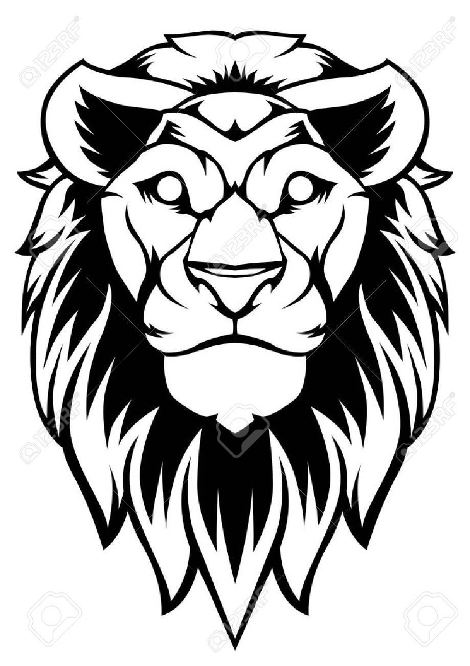 Lion art vector design logo banner black sticker tattoo background stock vector 95463169