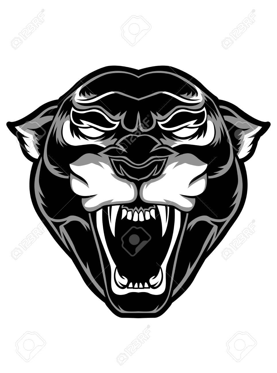 Black panther vector tattoo sticker poster background design banner - 95463170