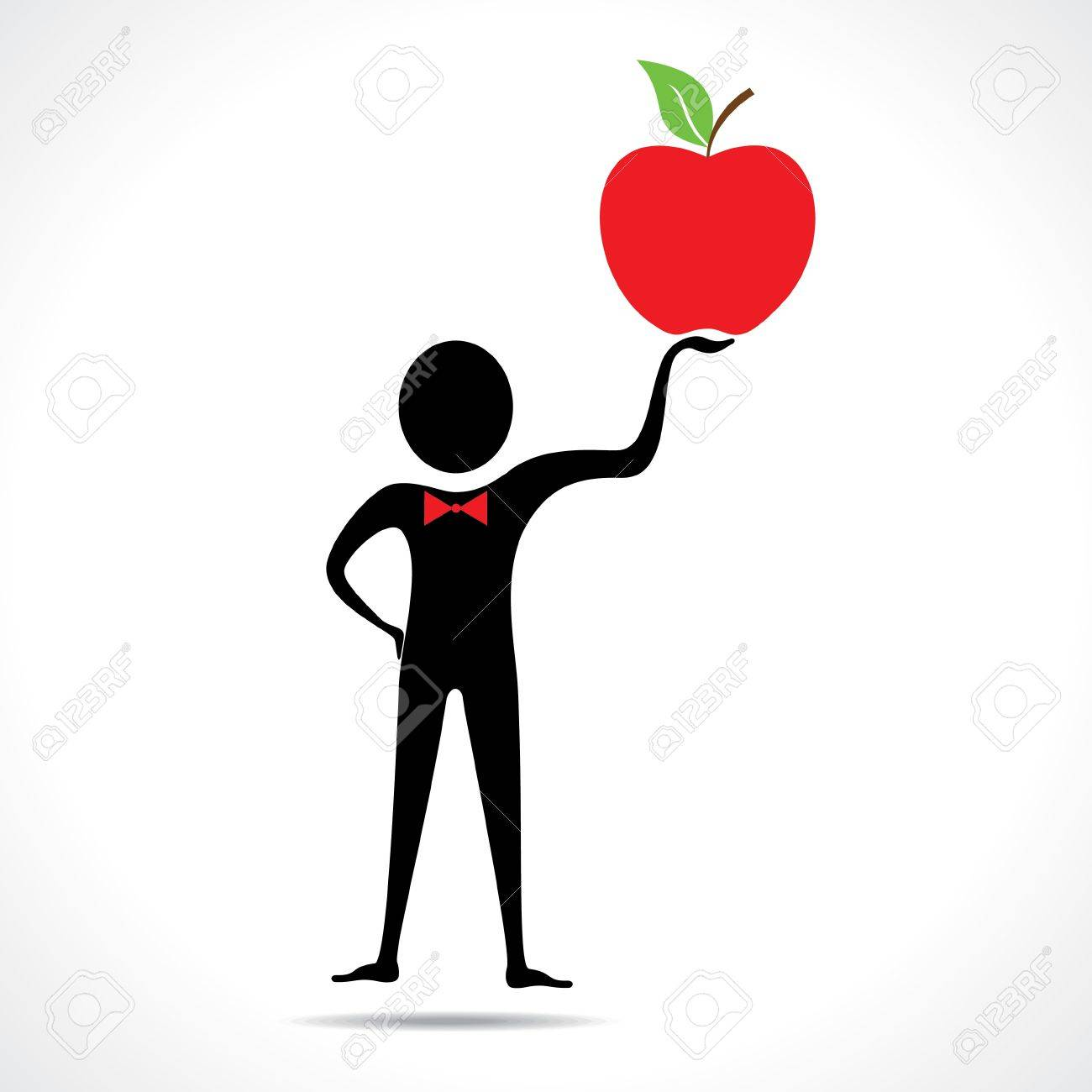 Man holding a apple vector Stock Vector - 20645095
