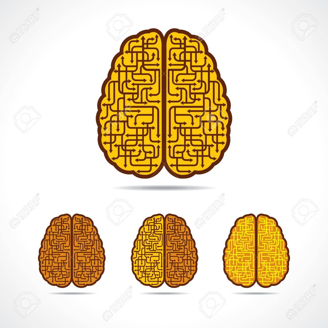 Differnt illustration of Brain forming of  arrows Stock Vector - 20775805