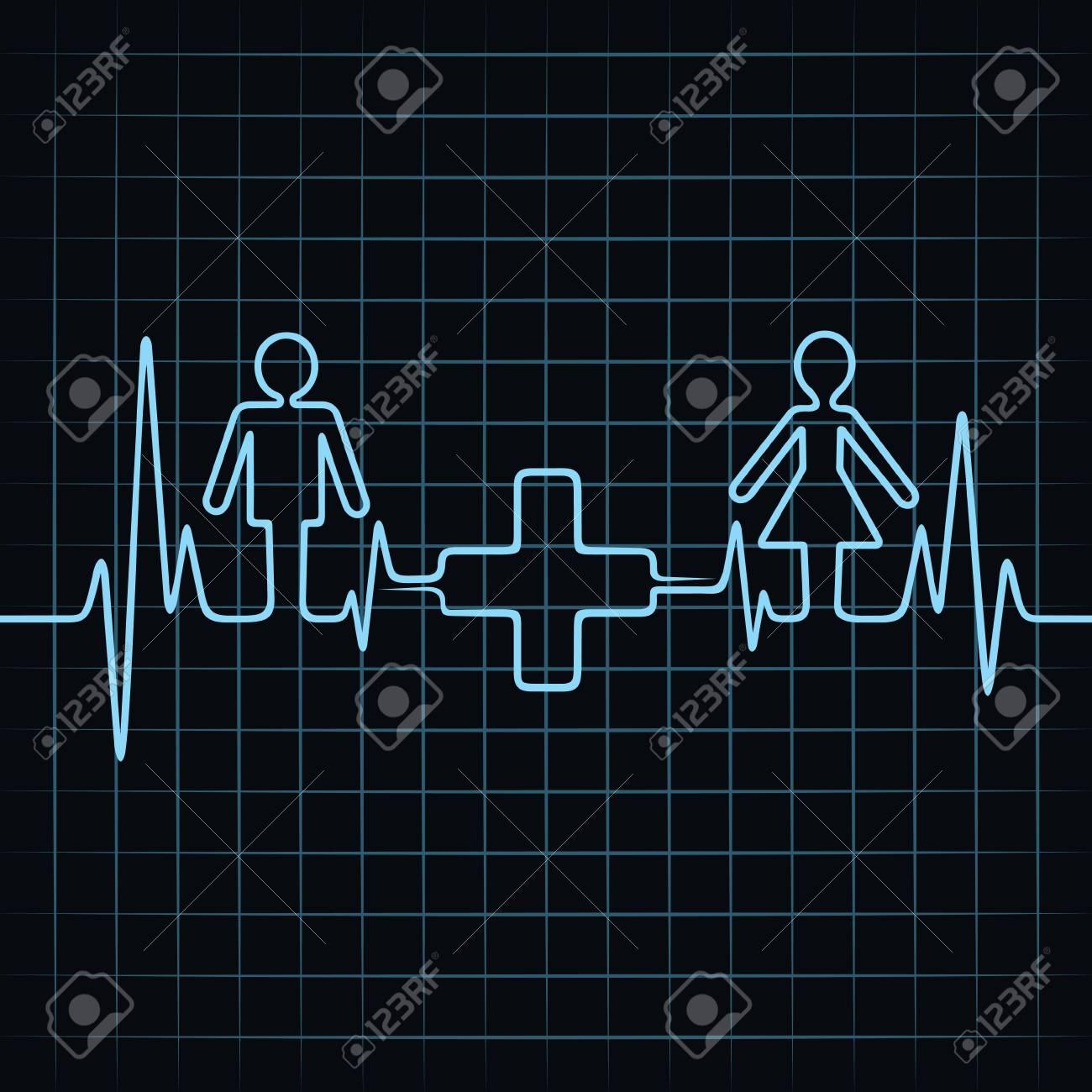 Heartbeat make malefemale and medical symbol royalty free heartbeat make malefemale and medical symbol stock vector 22221779 buycottarizona Images