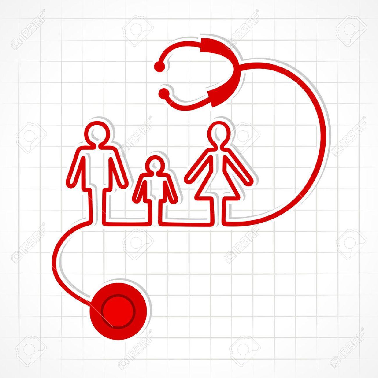 Stethoscope make family icon stock vector - 22713054