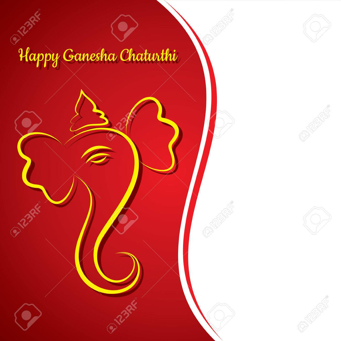 Creative Ganesh Chaturthi Festival Greeting Card Background Vector – Ganesh Invitation Cards