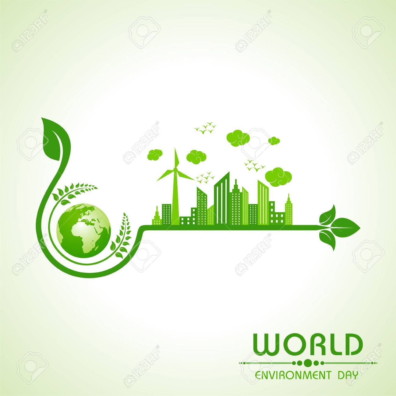 world environment day greeting design - 52486882