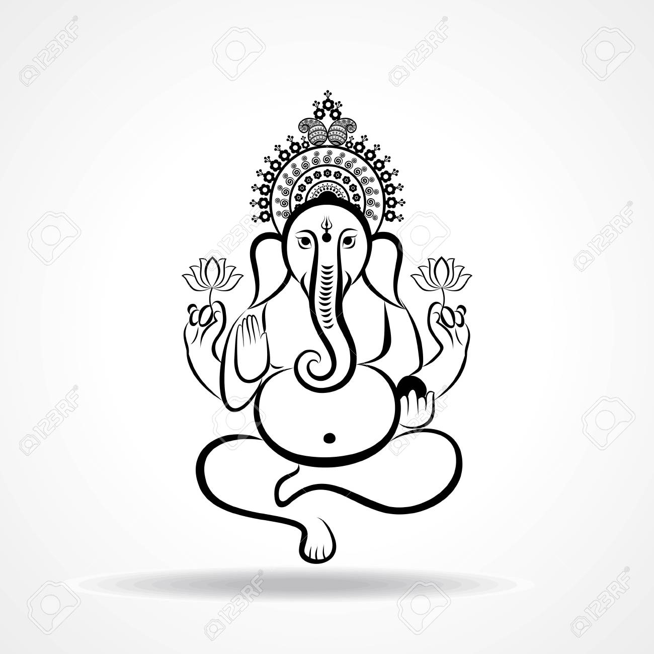 Happy Ganesh Chaturthi Festival Background Vector Royalty Free Cliparts Vectors And Stock Illustration Image 106196119