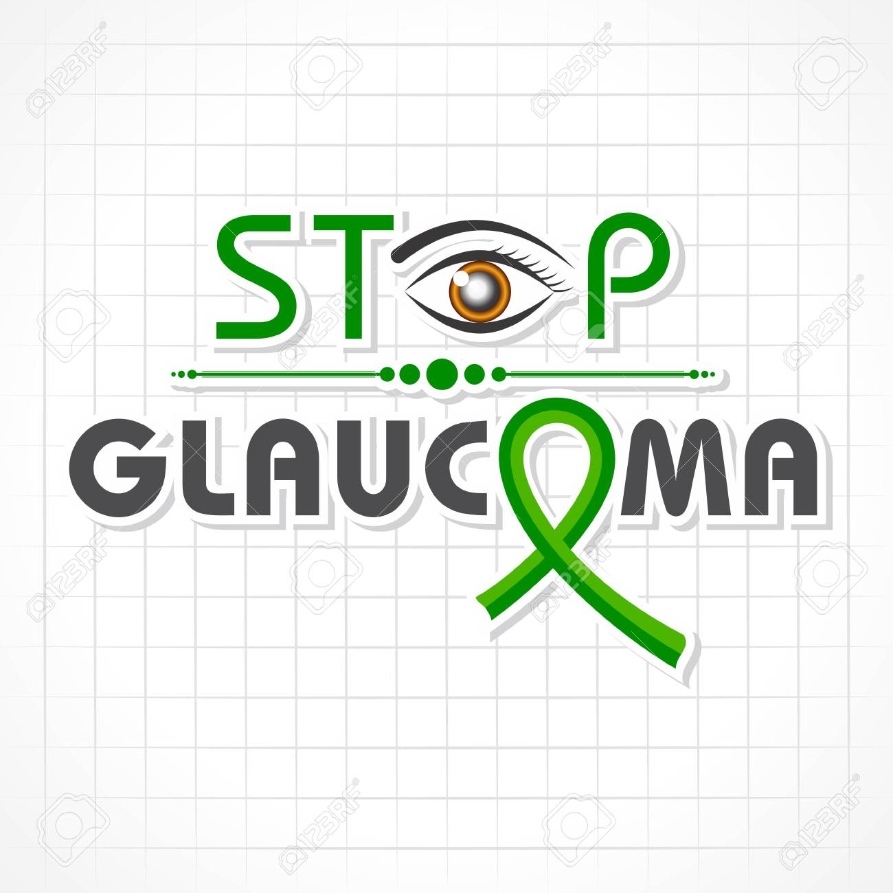 Vector illustration of a Background for World Glaucoma Day- 12 March - 125134441