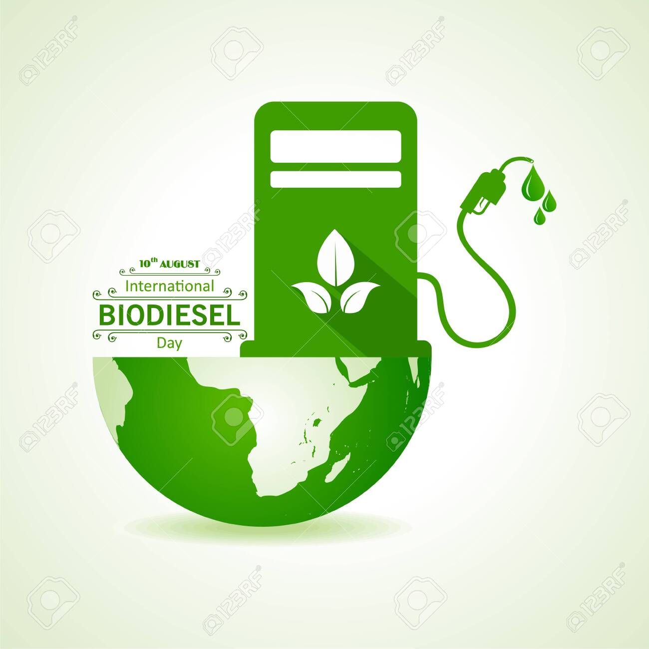 Illustration of International Biodiesel Day Greeting for Eco Environment - 10 August - 126067424
